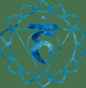 quinto chakra visuddha garganta azul