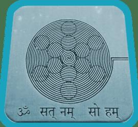 tarjeta de geometria sagrada fruto de la vida