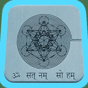 tarjeta de geometria sagrada metatron