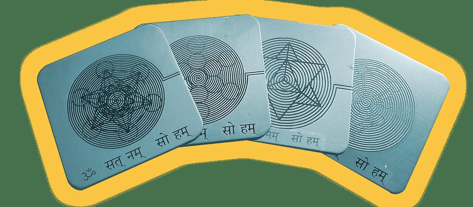 4 tarjetas de geometria sagrada
